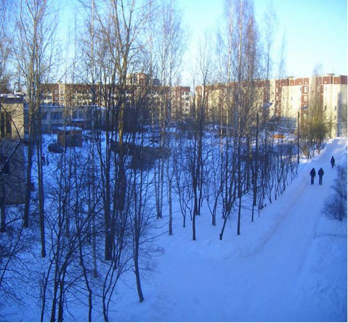 Фото новостройки зимой